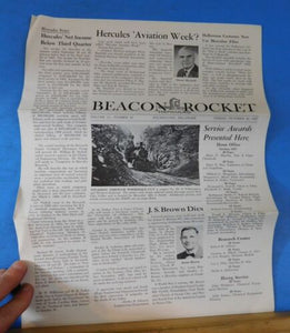 Beacon Rocket Hercules Newsletter 1967 October 20 #42 Wilmington Del.