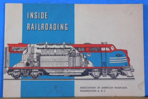 Inside Railroading Association of American Railroads March 1955 First Edition