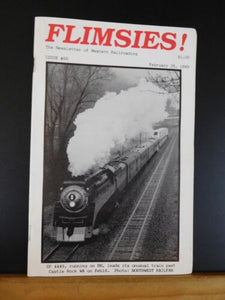 Flimsies West Issue #65 February 25, 1989 News Magazine of Western Railroading