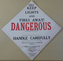 Belfast & Moosehead Lake Dangerous Signs (2) Keep lights and fires away. Handle