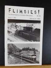 Flimsies West Issue #164 February 8, 1994 News Magazine of Western Railroading