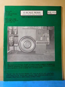 O Scale News #79 1984 November December Early Railroading