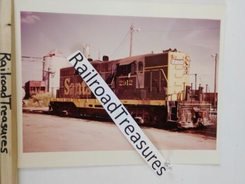 Photo Santa Fe Locomotive #2912 8 X 10 Color Temple TX 1973
