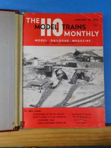 HO ModelTrains Volume 4 1951-1952 HO Monthly Suckert style binder 12 issues