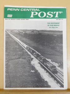 Penn Central Post Employee Magazine 1973 May-June Excitement of rail-bridge