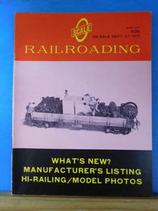O Scale Railroading 1971 April What's new Ohio Falls Car Co Operating adj to loc