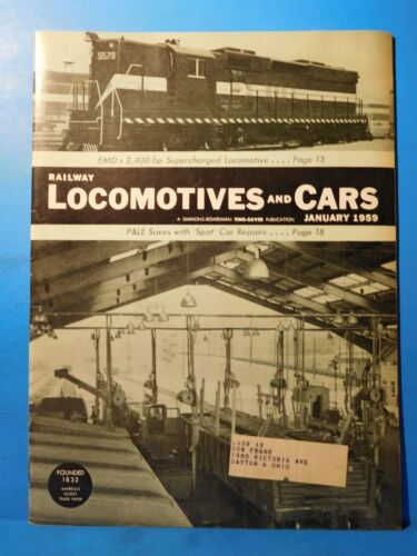 Railway Locomotives and Cars 1959 January P&LE Spot Facility Speeds Car Repair