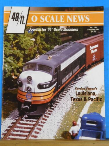 O Scale News #154 2000 February 48ft Journal for 1/4