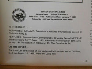 Jersey Central Line NRHS 1981 January Camelbacks Wabash in Pittsburgh Lackawanna