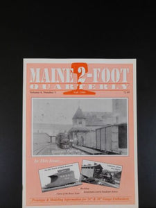Maine 2 Foot Quarterly 1999 Fall Vol 4 #5 Curse of the Booze train Kennebunk Cen