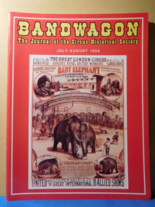 Bandwagon 1995 July Aug Circus Magazine The Great London Circus