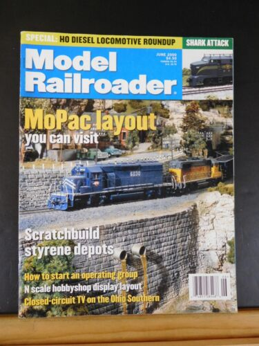 Model Railroader Magazine 2000 June Scratchbuild styrene depots MoPac layout you