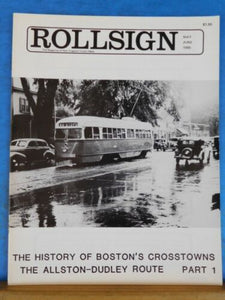 Rollsign Magazine of New England Transit News 1985 May June