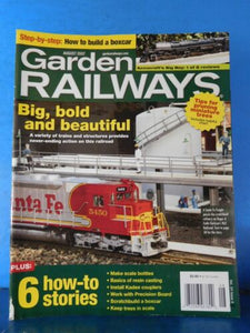 Garden Railways Magazine 2007 August Build a boxcar Make scale bottles Pruning m
