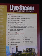 Live Steam Magazine 2016 March April & Outdoor Railroading Vertical hot air engi