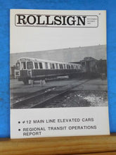 Rollsign Magazine of New England Transit News 1981 September October