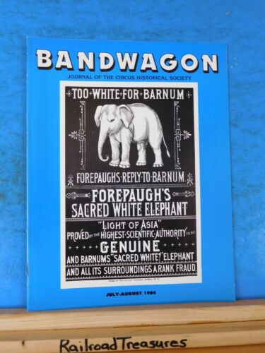 Bandwagon 1984 July August Circus Magazine Great Van Amburg & Howes London Shows