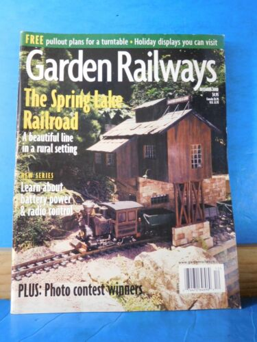 Garden Railways Magazine 2000 December Painted signs for buildings Service Stn