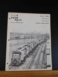 Extra 2200 South 1968 March Stapled NP Feature U28 roster