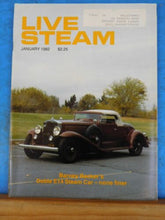 Live Steam Magazine 1982 Jan Doble E14 steam car Turbine and Centrifugal Pump