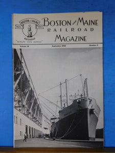 Boston & Maine Railroad Employee Magazine 1950 September