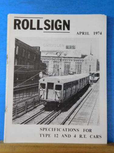 Rollsign Magazine of New England Transit News 1974 April Specifications For Type