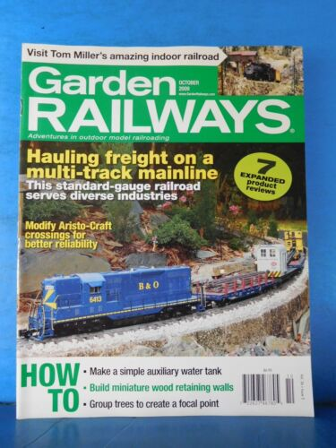 Garden Railways Magazine 2009 October Hauling freight on a multi-track mainline