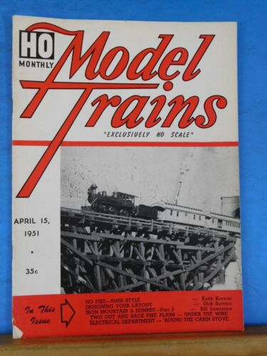HO Monthly Model Trains 1951 April HO scale Designing your layout