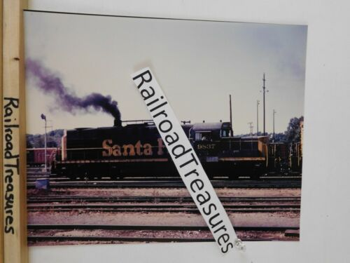 Photo Santa Fe Locomotive #9837 8 X 10 Color Argentine KS 1971