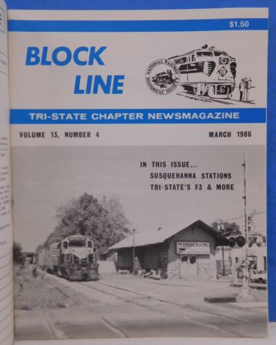 Block Line NRHS 1986 March Susquehanna Stations F4 DL&W