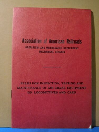 Association of American Railroads Operations & Maintenance Department 1957