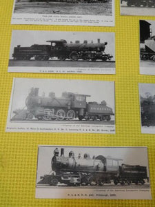 Photo PS&N RR Pittsburgh Shawmut & Northern Lot of 15 photos? Cut outs?