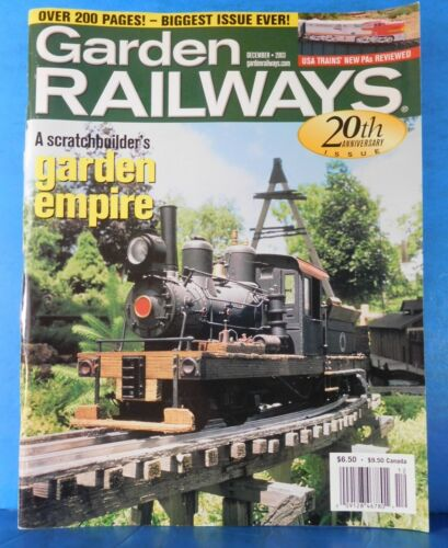 Garden Railways Magazine 2003 December Scratchbuilders garden empire SImple Pass