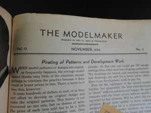 Modelmaker Magazine 1935 November V13 #2 An Unusual Electric Drive Pacific