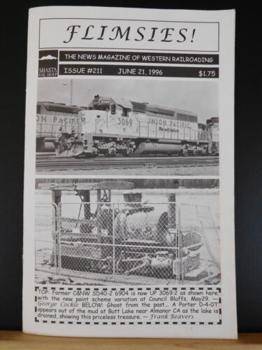 Flimsies West Issue #211 June 21, 1996 News Magazine of Western Railroading