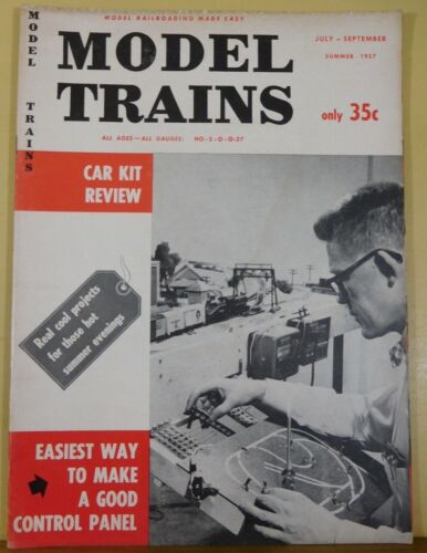 Model Trains 1957 July-September Summer Underpass Signaling project Control pane