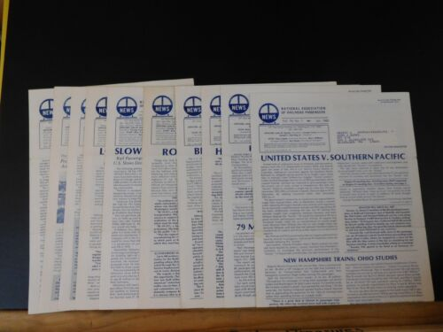 News from the National Association of Railroad Passengers 1980 Lot of 10: