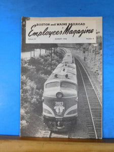 Boston & Maine Railroad Employee Magazine 1946 August