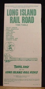 Long Island Rail Road public timetable 1965 Sept 13 LIRR
