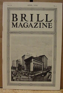 Brill Magazine 1916 April Electric Railway System of Madrid Extreme light weight
