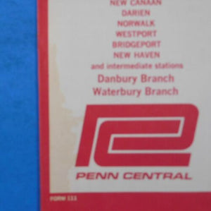 New Haven Line Penn Central Timetable Lot of (4) Metropolitan Region