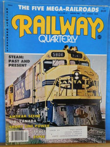 Railway Quarterly Vol 6 No 4 Winter 1982 Five Mega Railroads Amtrak Via Short li