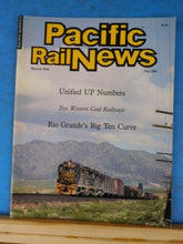 Pacific Rail News #268 1986 March Unified UP Numbers 2 western Coal trains RG 10