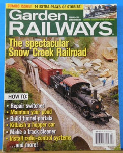 Garden Railways Magazine 2005 February Spectacular Snow Creek Railroad