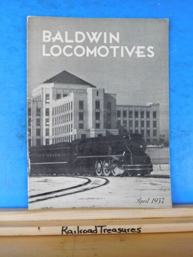 Baldwin Locomotives Magazine 1937 April NH Eddystone to Ecuador Brake shoe testi