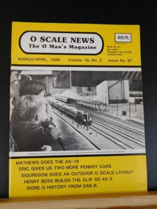 O Scale News #87 1986 March April Pennsy cars CLW SD40-2 O History