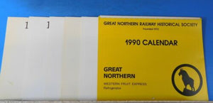 Great Northern Railway Historical Society Calendar Lot of 6 1990, 1995-1999