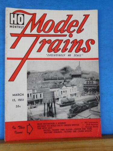 HO Monthly Model Trains 1951 March HO Scale Deck Girder Bridge