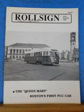 Rollsign Magazine of New England Transit News 1987 July August The Queen Mary