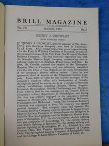 Brill Magazine 1913 March Rochestesr NY Spanish 1200 volt Interior woods used